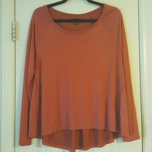 American Eagle Burnt Orange Long Sleeve Tee